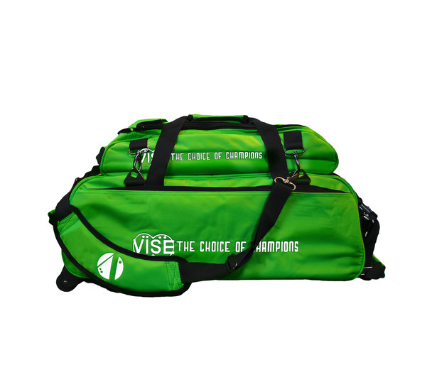 Vise 3 Ball Tote Roller with Shoe Pouch Neon Green