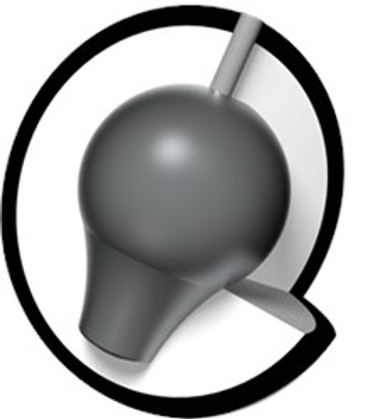 Brunswick Rhino Bowling Ball core - Black/Blue/Silver Pearl
