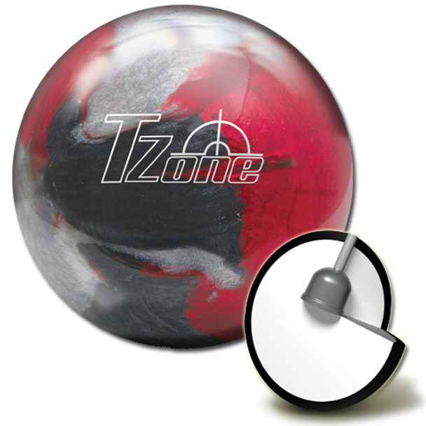 Brunswick Target Zone Scarlet Shadow Bowling Ball and core