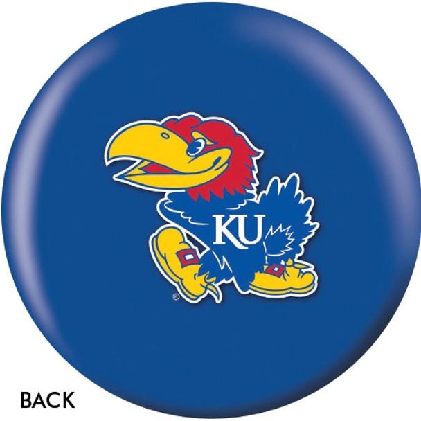 OTBB Kansas Jayhawks Bowling Ball back
