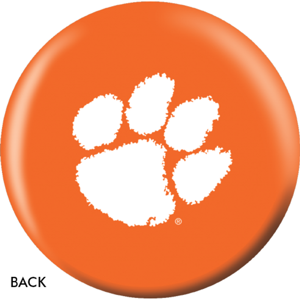 OTBB Clemson University Bowling Ball back
