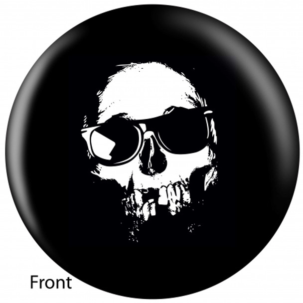 OTBB Cool Skull Bowling Ball front