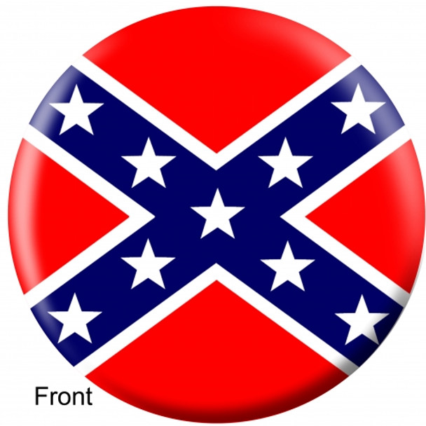 OTBB Confederate Flag Bowling Ball front