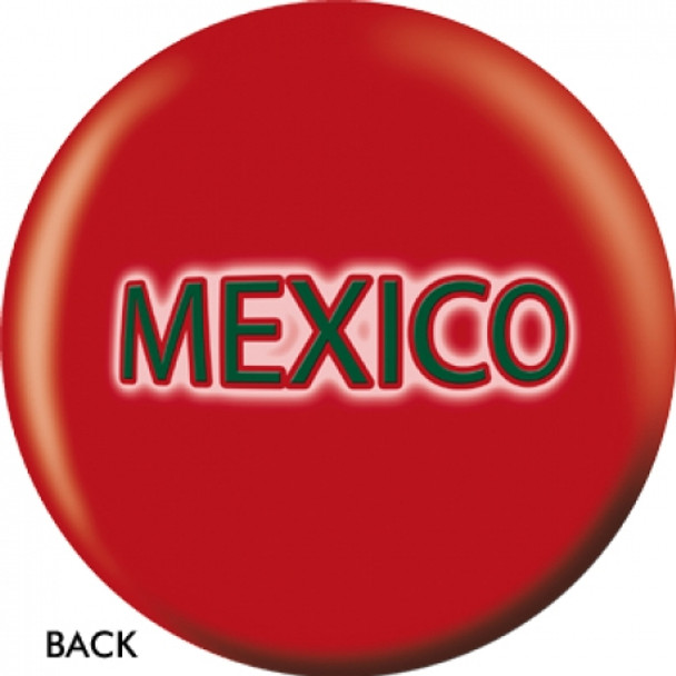 OTBB Mexican Flag Bowling Ball back
