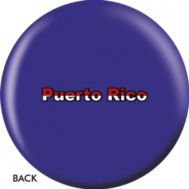 OTBB Puerto Rican Flag Bowling Ball back