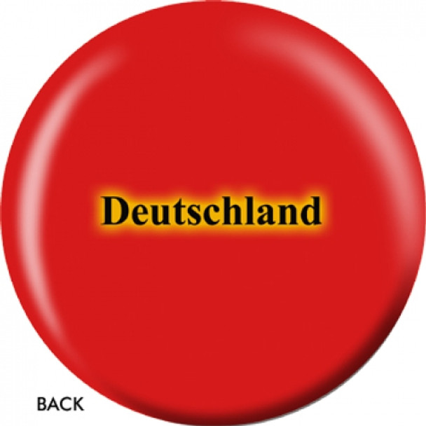 OTBB German Flag Bowling Ball back