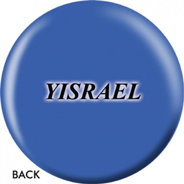 OTBB Israeli Flag Bowling Ball back