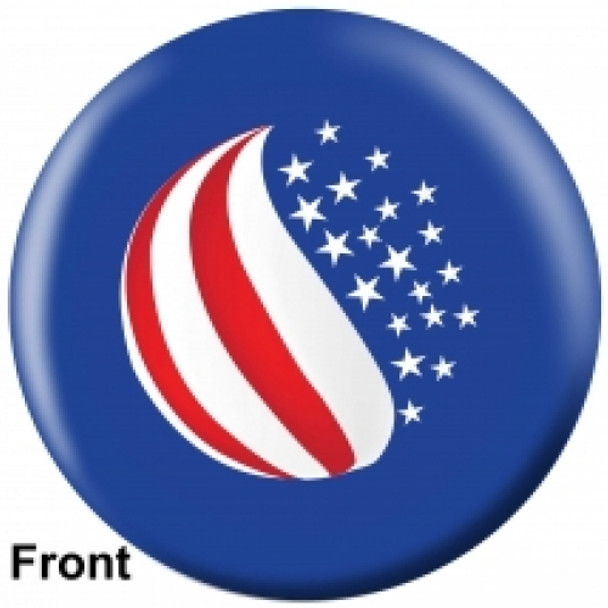 OTBB American Flag Bowling Ball front