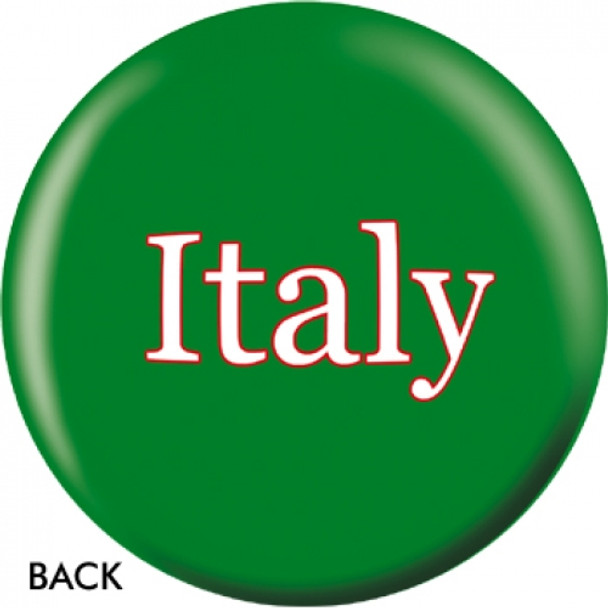 OTBB Italian Flag Bowling Ball back
