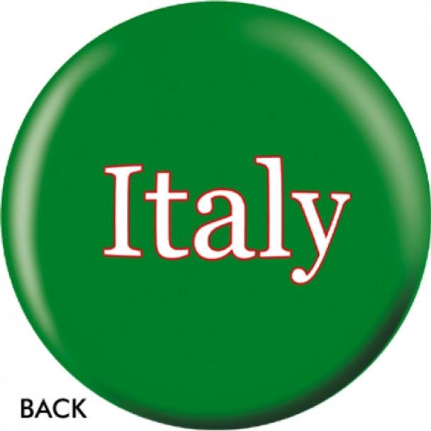 OTBB Italian Flag Bowling Ball back