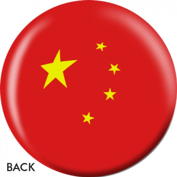 OTBB Chinese Flag Bowling Ball back