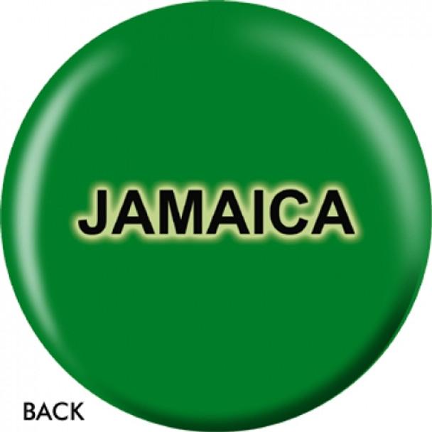 OTBB Jamaican Flag Bowling Ball back