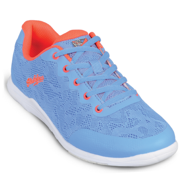 KR Strikeforce Womens Lace Bowling Shoes Sky/Coral top blue lace