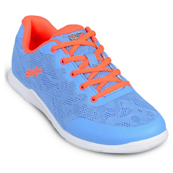 KR Strikeforce Womens Lace Bowling Shoes Sky/Coral top coral lace