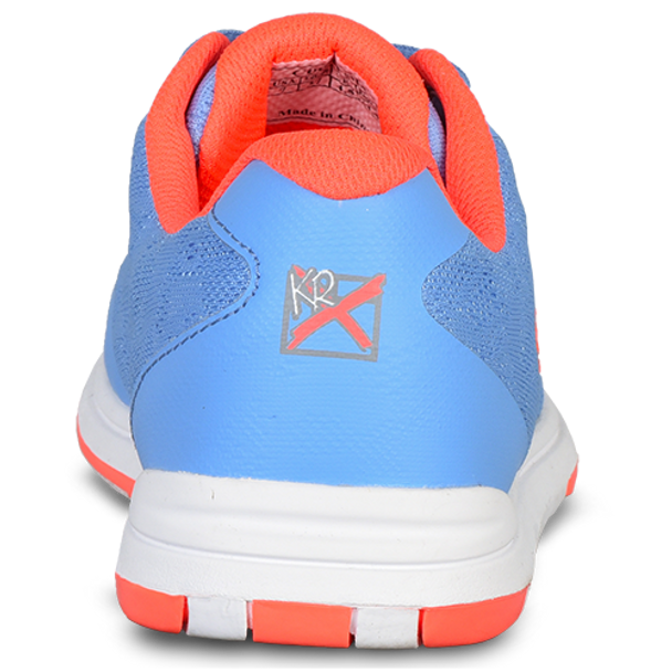 KR Strikeforce Womens Lace Bowling Shoes Sky/Coral back