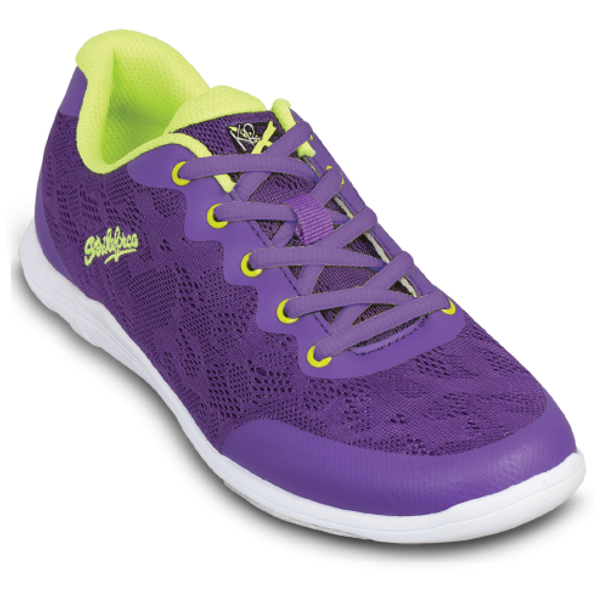KR Strikeforce Womens Lace Bowling Shoes Purple/Yellow top purple laces