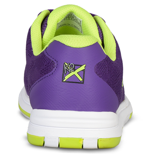 KR Strikeforce Womens Lace Bowling Shoes Purple/Yellow back