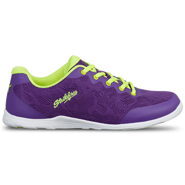 KR Strikeforce Womens Lace Bowling Shoes Purple/Yellow side