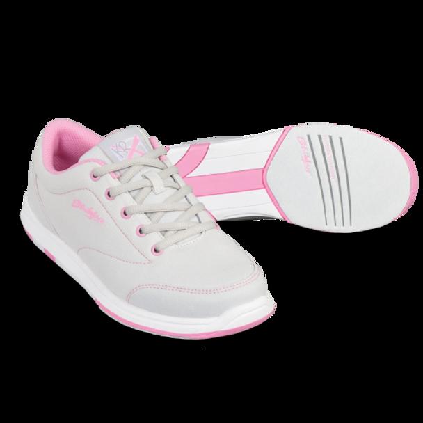 KR Strikeforce Womens Chill Bowling Shoes Light Grey/Pink setup