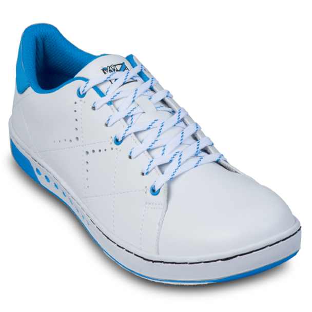 KR Strikeforce Womens Gem Bowling Shoes White/Blue top white lace