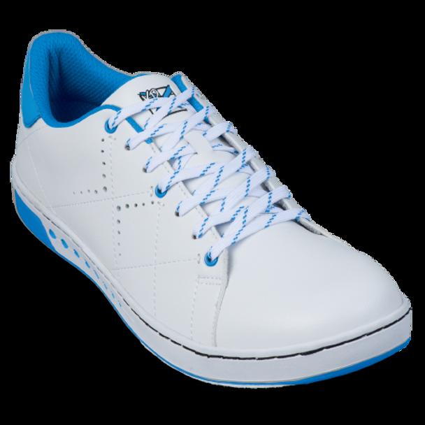 KR Strikeforce Womens Gem Bowling Shoes White/Blue top white lace