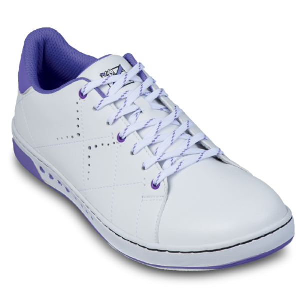 KR Strikeforce Womens Gem Bowling Shoes White/Purple top white laces