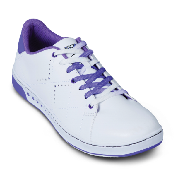 KR Strikeforce Womens Gem Bowling Shoes White/Purple top purple laces
