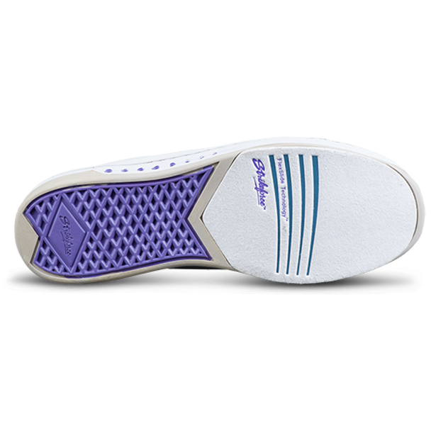 KR Strikeforce Womens Gem Bowling Shoes White/Purple bottom