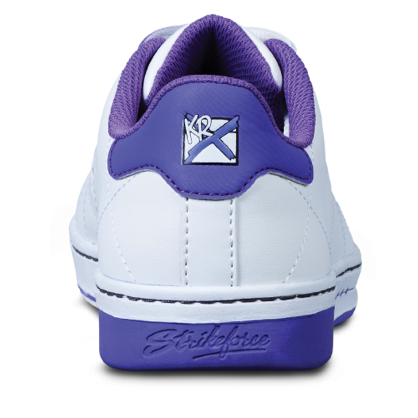 KR Strikeforce Womens Gem Bowling Shoes White/Purple back
