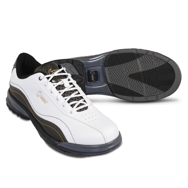 Hammer Force Mens Bowling Shoes White/Carbon Right Handed setup