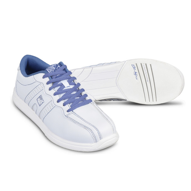 KR Strikeforce Womens O.P.P. Bowling Shoes White/Periwinkle setup