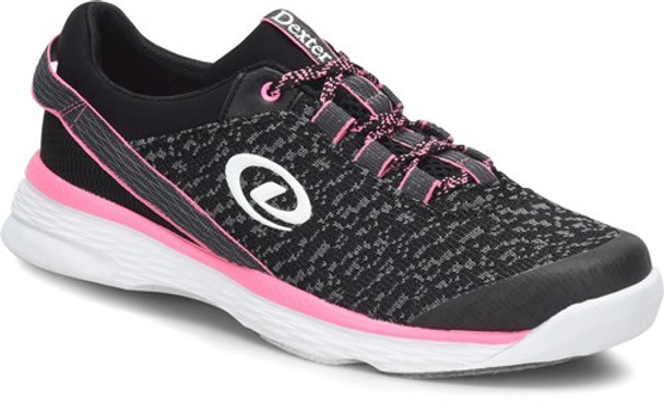 Dexter Jenna II Womens Bowling Shoes Black/Grey/Pink