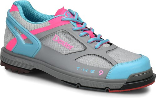 Dexter THE 9 HT Womens Bowling Shoes Grey/Blue/Pink