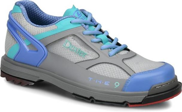 Dexter THE 9 HT Womens Bowling Shoes Grey/Periwinkle/Aqua