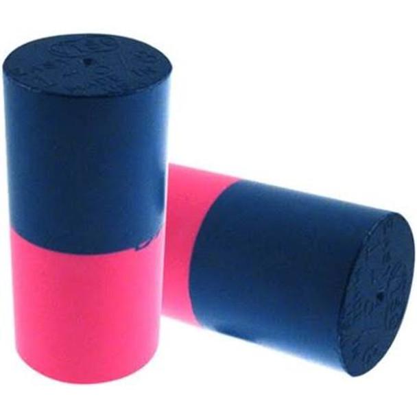 Vise Bowling Insert - Duo Urethane Thumb Slug - Blue/Neon Pink