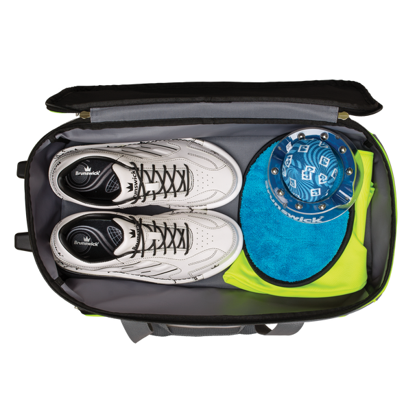 Brunswick Crown Deluxe Double Roller Bowling Bag  Shoe detail