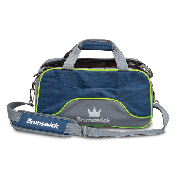 Brunswick Crown Deluxe Double Tote - Navy/Lime