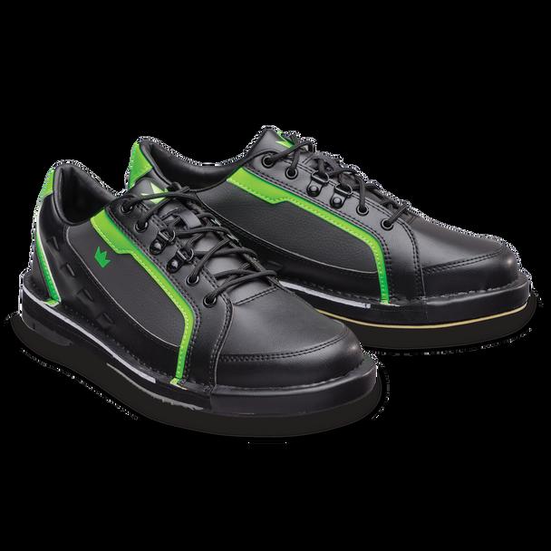 Brunswick Punisher Mens Bowling Shoes Black/Neon Green right