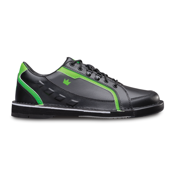 Brunswick Punisher Mens Bowling Shoes Black/Neon Green Right Handed Wide