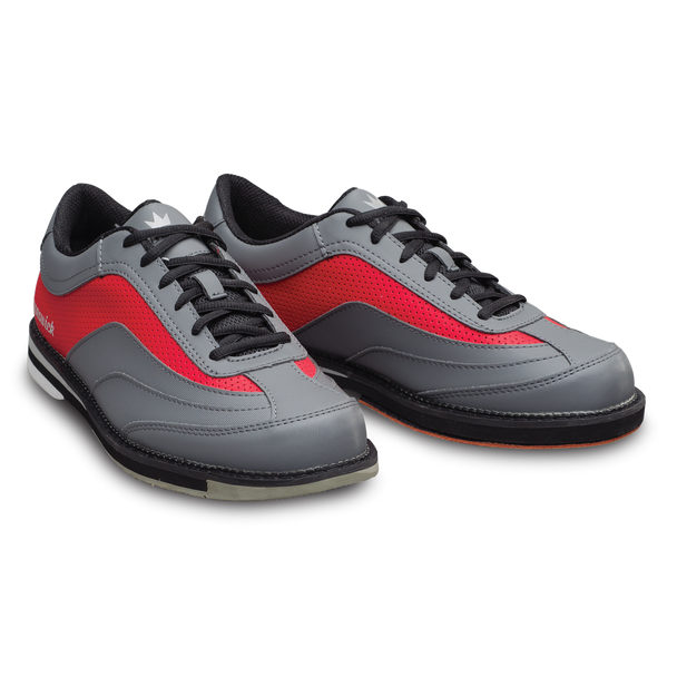Brunswick Rampage Mens Bowling Shoes Grey/Red Right Side
