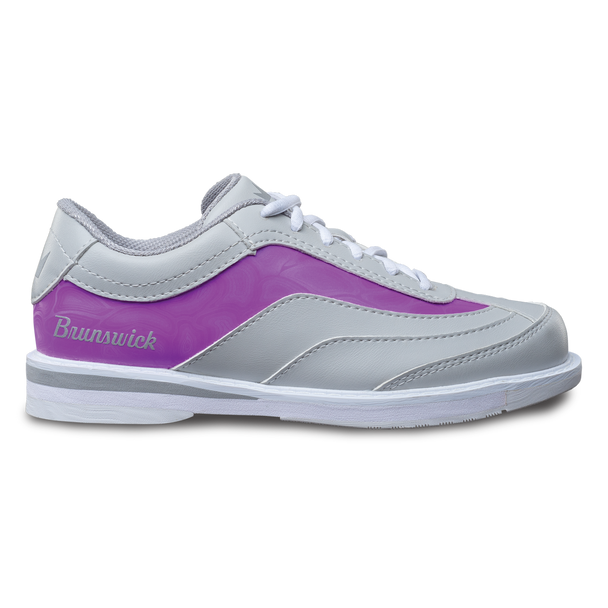 Brunswick Intrigue Womens Bowling Shoes Grey/Purple Right Handed
