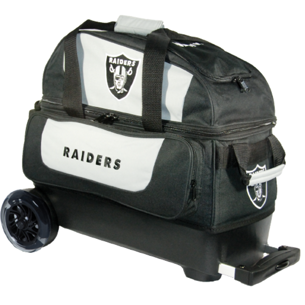 KR Strikeforce NFL Oakland Raiders 2 Ball Roller Bowling Bag