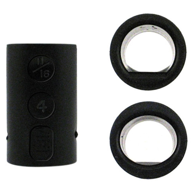 Vise Power Lift & Oval Bowling Ball Grips - Black