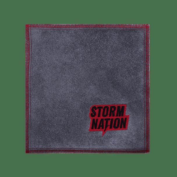 Storm Nation Shammy - Grey/Red Stitching