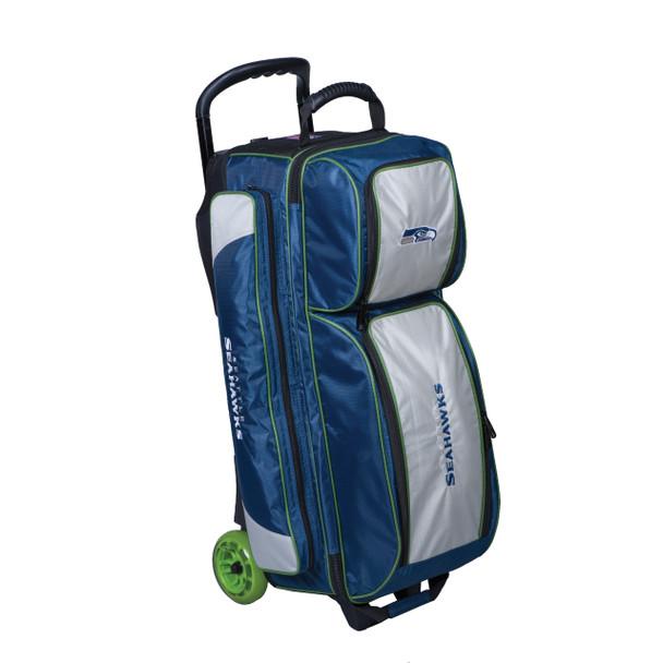 KR Strikeforce NFL Seattle Seahawks Triple Roller Bowling Bag left