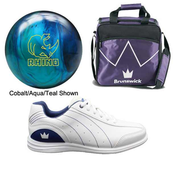 Brunswick Womens Rhino Bowling Ball, Bag and Shoes Package