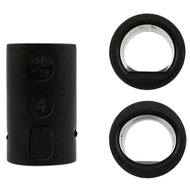 Vise Power Lift & Oval Inserts - Black
