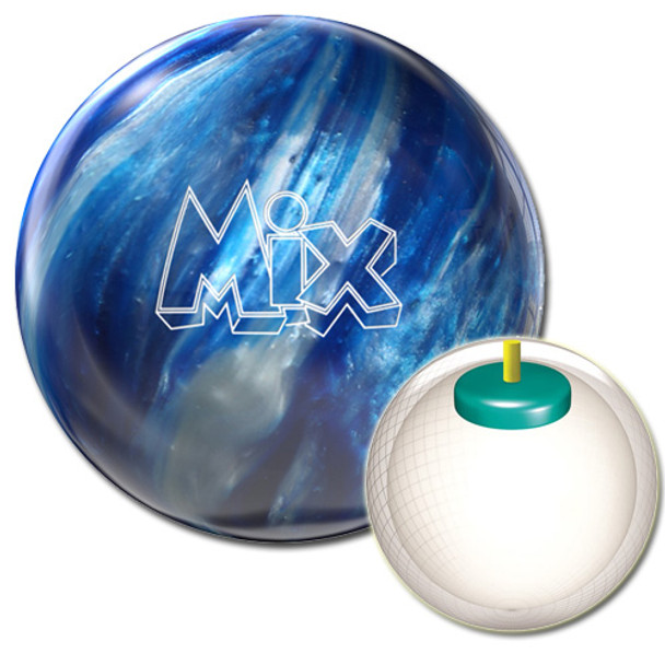 Storm Mix Bowling Ball Blue/Silver with Core