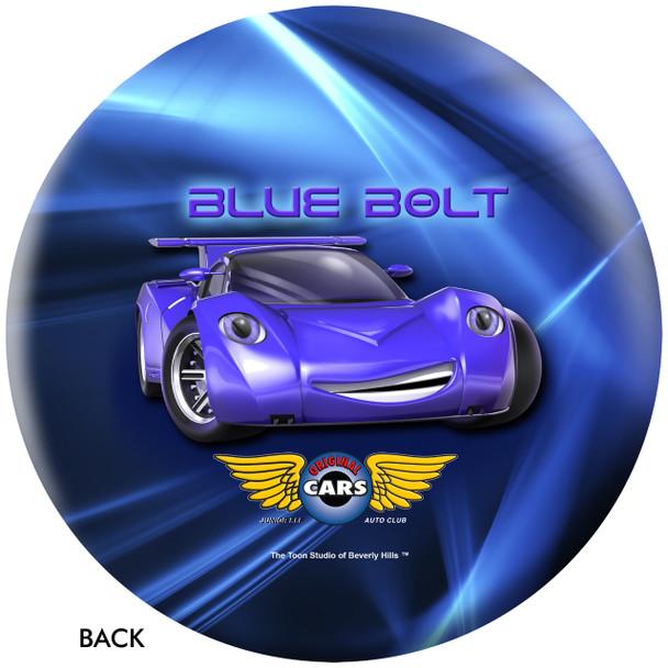 OTBB Disney Cars' Blue Bolt Bowling Ball back