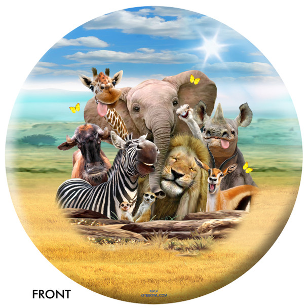 OTBB African Animals Selfie Bowling Ball front